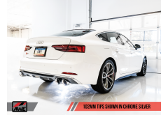 AWE Touring Edition Exhaust for Audi B9 S5 Sportback - Non-Resonated (Silver 102mm Tips)