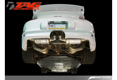 AWE Tuning Porsche 997 GT3 Exhaust Solution - Mufflers, Headers, and High Flow 200 cell Cat sections (Includes Silver Tips)