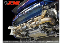 """Black Tips - AWE Tuning Porsche 997TT Exhaust System with HJS 200 cell catalysts and 3"""" Tailpipes"""