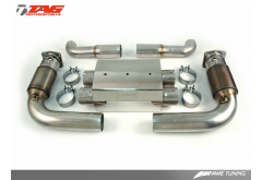 AWE Tuning Porsche 997TT Exhaust System with HJS 200 cell catalysts Re-use OEM Tips