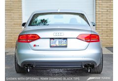 AWE Tuning Audi S4 3.0T Touring Edition Exhaust System -- Diamond Black Tips (102mm)