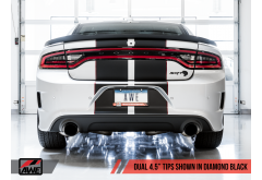 AWE Touring Edition Exhaust for Charger 6.4 / 6.2 SC - Resonated with Diamond Black Tips