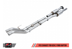 AWE 1 FG Exhaust for Gen 2 Ford Raptor (Resonated Peformance H Pipe)