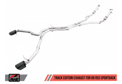 AWE Track Edition Exhaust for Audi B9 RS 5 Sportback - Non-Resonated - Diamond Black RS-style Tips