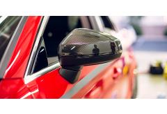 OEM Carbon Fiber Door Mirror Caps for A3/S3 (8V)