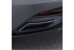 STARTECH DB11 Exhaust Tips, set, Silver, Bracket in Carbon