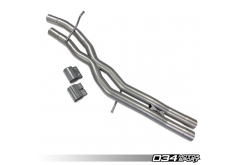 034 Motorsport Res-X Resonator Delete and X-Pipe for B9 S4