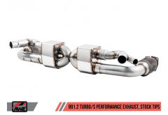 AWE Performance Exhaust for Porsche 991.2 Turbo - For Use With OE Tips