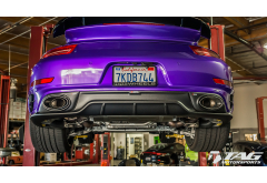 Akrapovic 991 Turbo Exhaust System (Shown with Optional Carbon Diffusor)