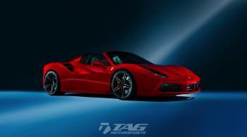 17' Ferrari 488 Spider HRE Wheels