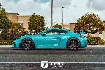 718 Cayman GT4 with Techart Nose Lift