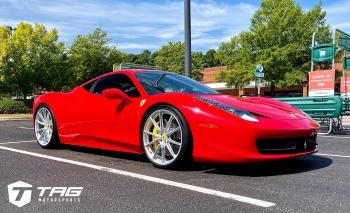 458 Italia on HRE P104SC Wheels