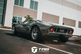 Grey Ford GT with Accufab Exhaust