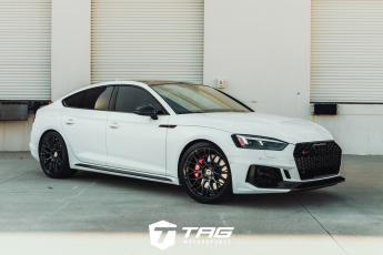RS5 Sportback with AWE Exhaust on HRE RC100s