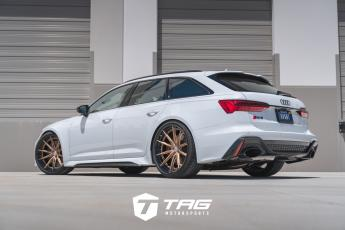 C8 RS6 with Milltek Exhaust on HRE S104SC
