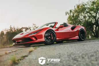 The TAG F8 Spider on HRE P107SC Wheels