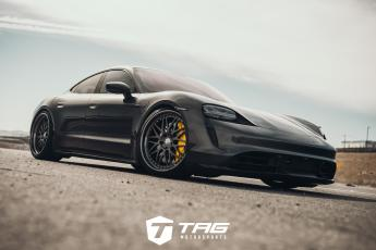 The TAG Taycan Turbo S Lowered on HRE 540 Wheels