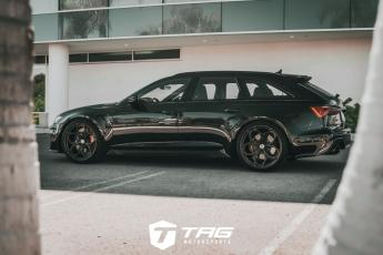 The TAG C8 RS6 Avant on HRE P111SC Wheels