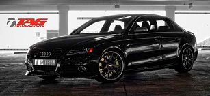 Black Attack - Audi S4 on BBS wheels and StopTech
