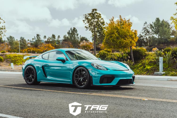 718 Cayman GT4 with Techart Nose Lift Installed