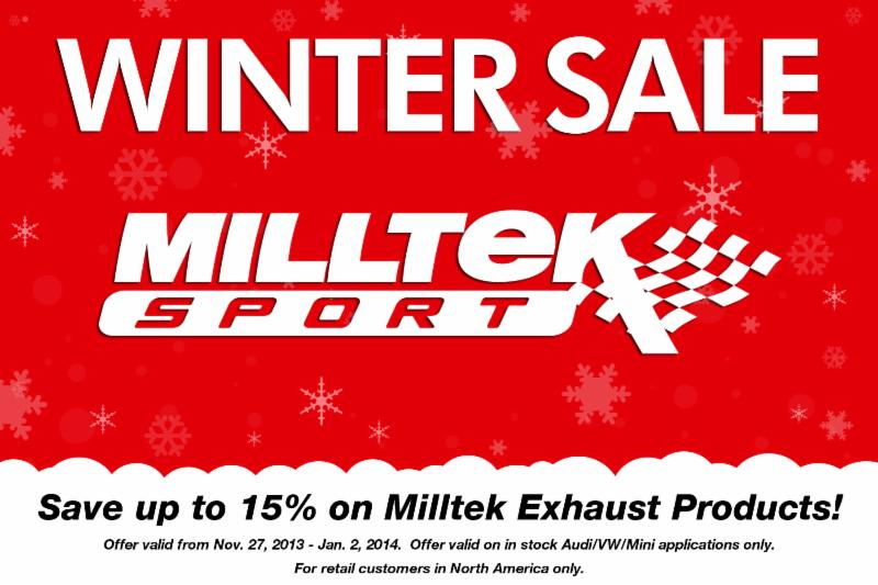 Milltek Winter SALE!