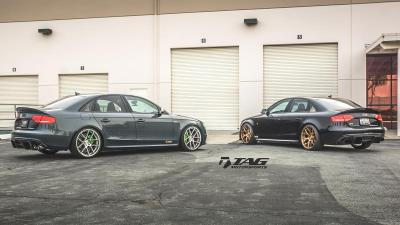Pair of Amazing Audi S4's fitted with Enlaes