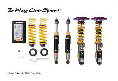 KW SUSPENSIONS 3 way clubsport coilovers for the 991.2 GT3RS. Track ready