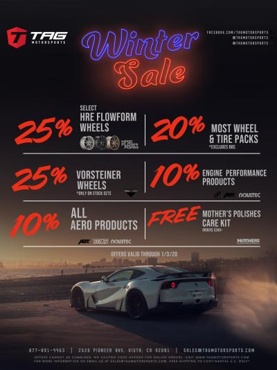 TAG's HOLIDAY-WINTER SALE 2019