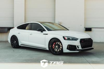 RS5 Sportback on HRE RC100 + AWE + TAG Blackout package