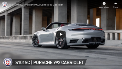 TAG'S. TECHART 992 C2S CABRIOLET ON S101SC. VIDEO BY HRE WHEELS