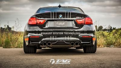 TAG BMW M4, now with Akrapovic Exhaust Livery
