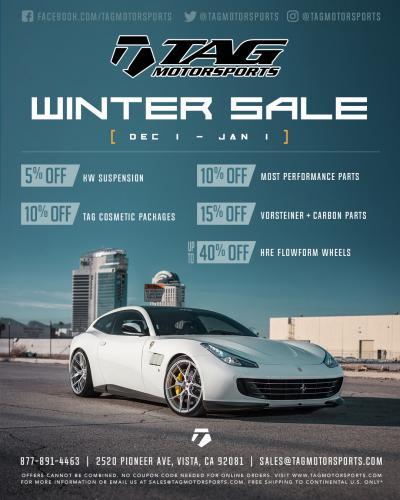 TAG Winter Sale 2018
