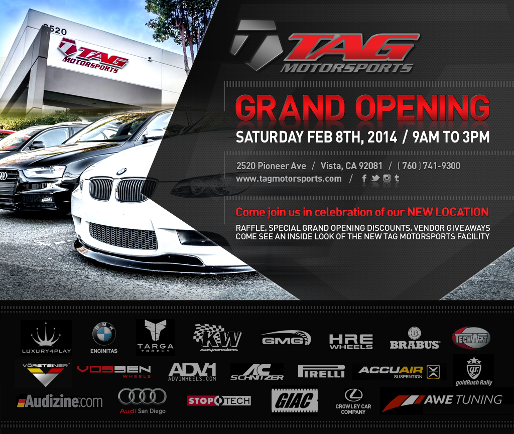 TAG Motorsports // GRAND OPENING EVENT