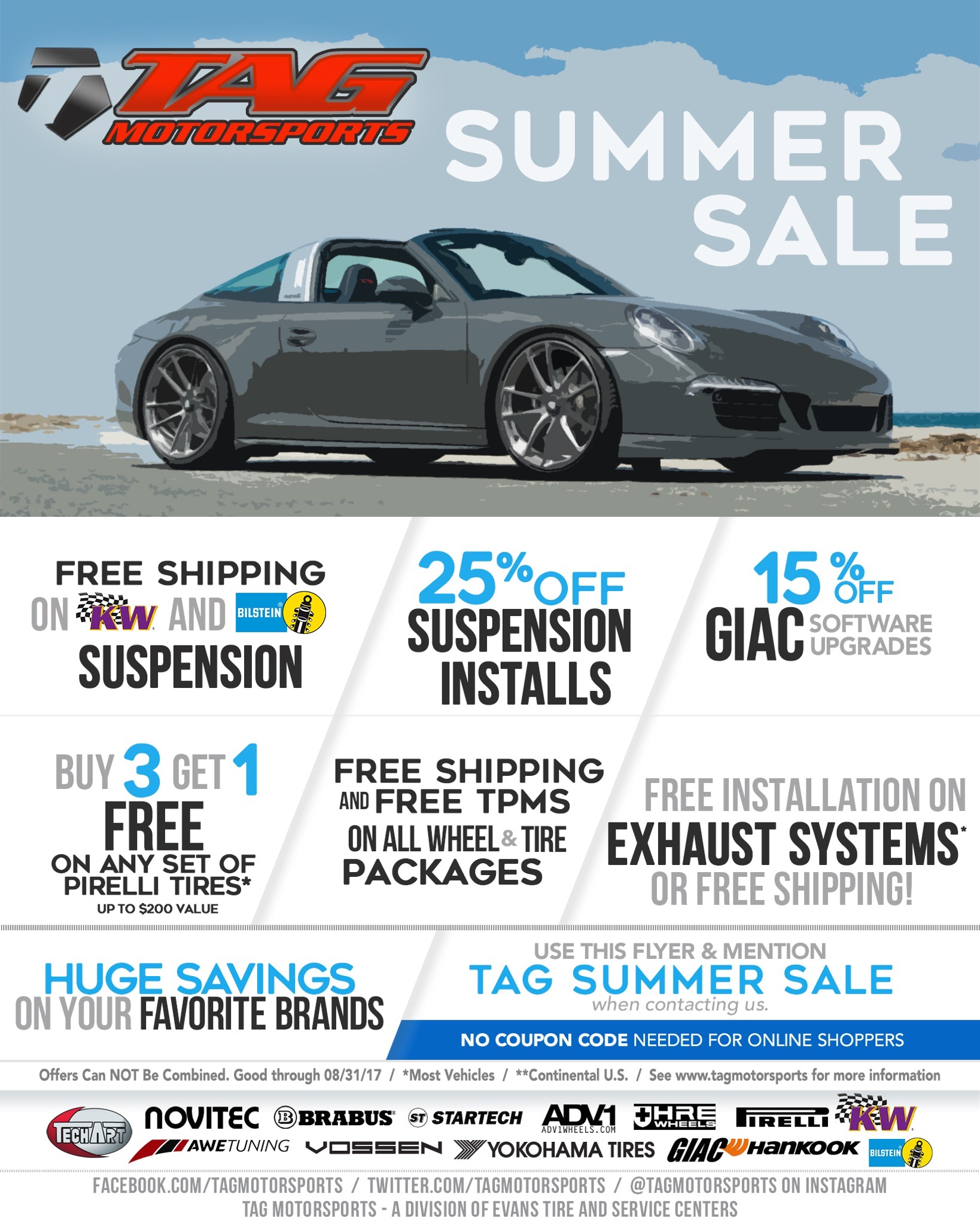 TAG 2017 Summer Sale is HERE!