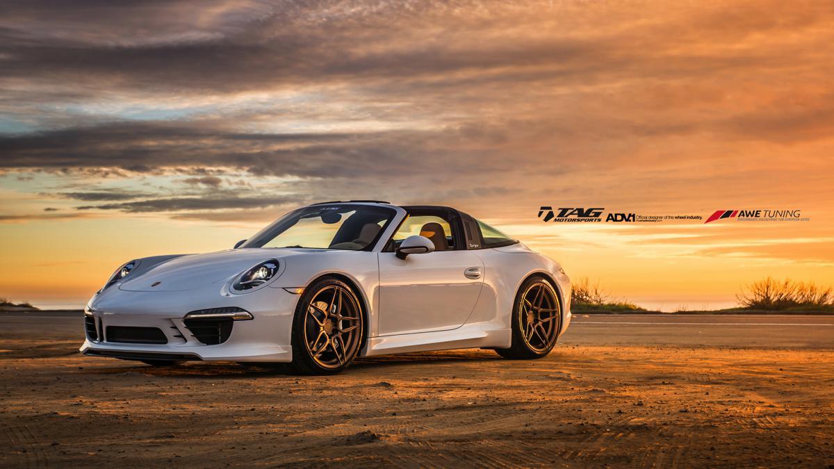 2015 Porsche Targa 4S with ADV Wheels + Techart + AWE Tuning