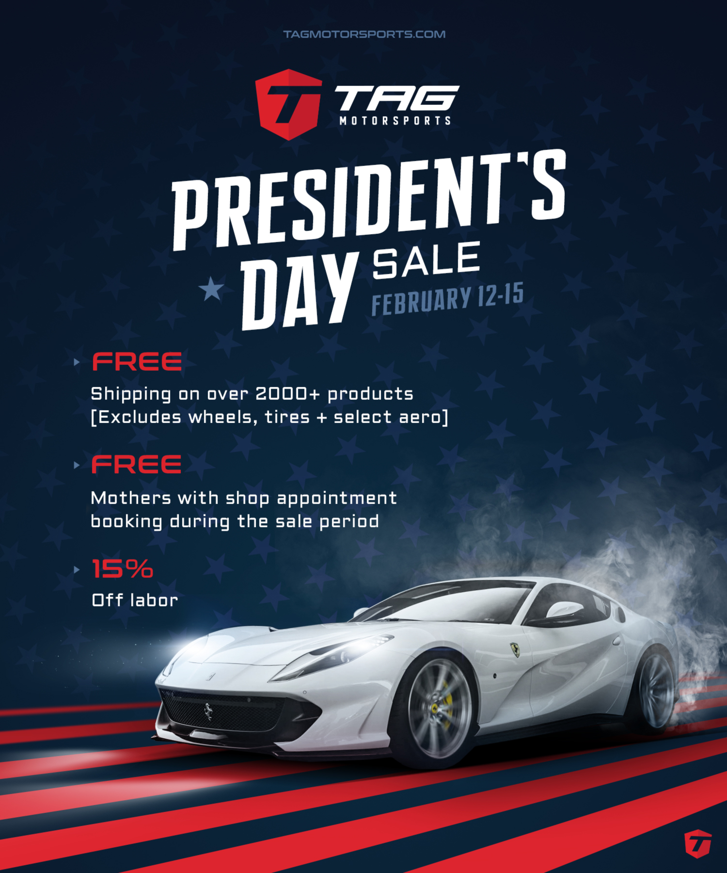 PRESIDENT'S DAY SALE THIS WEEKEND! FEBRUARY 12-15