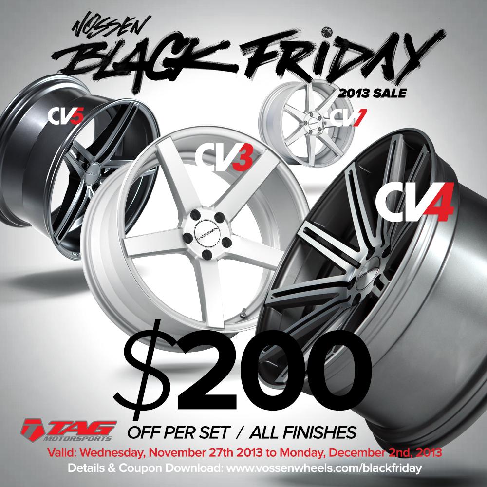 Vossen Wheels Black Friday Sale