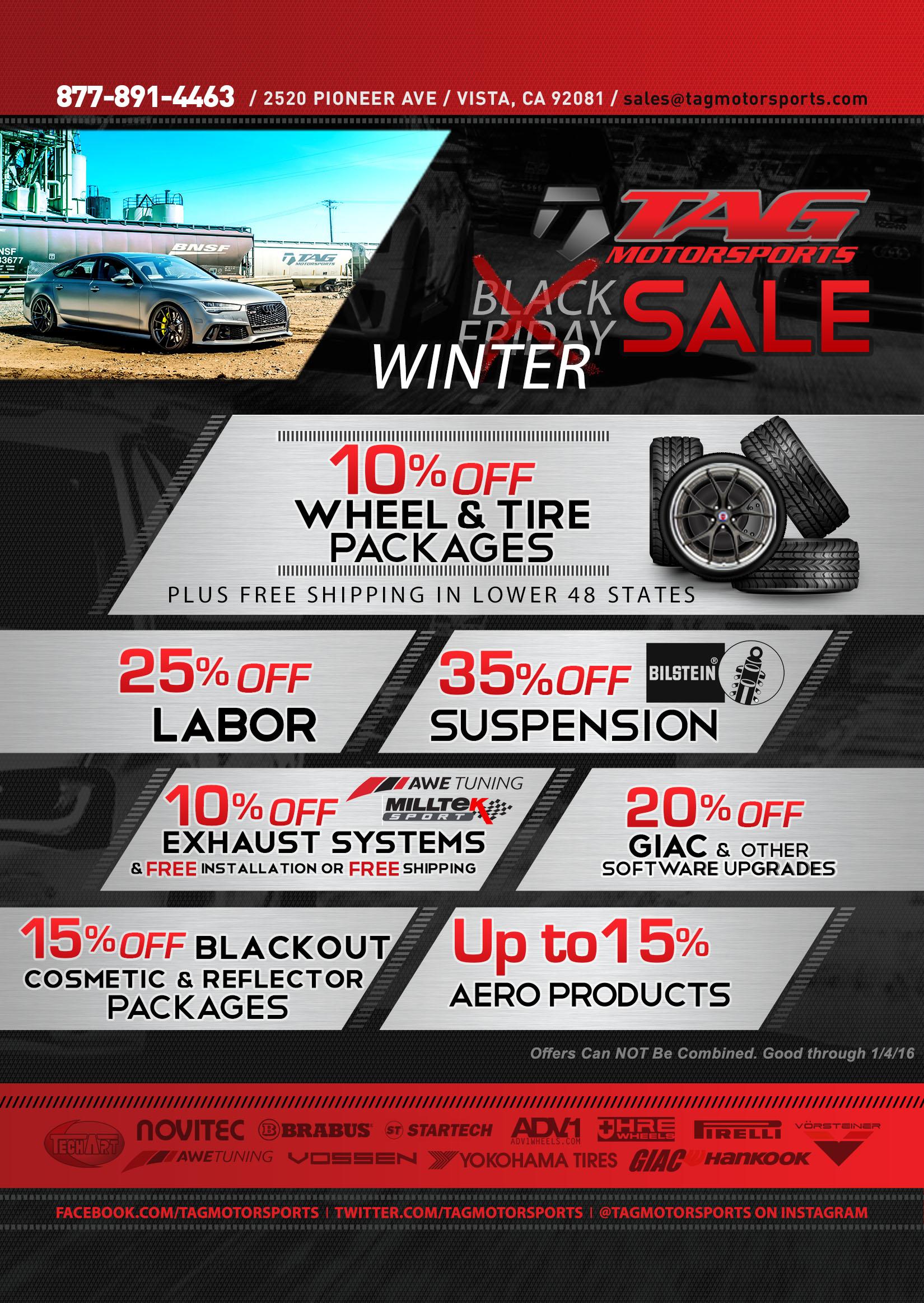 TAG Motorsports | 2015 Winter SALE